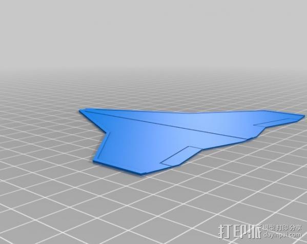 Delta 喷气式飞机 3D模型  图3