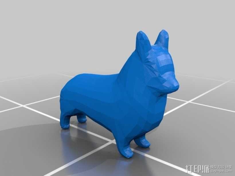 柯基犬  3D模型  图1