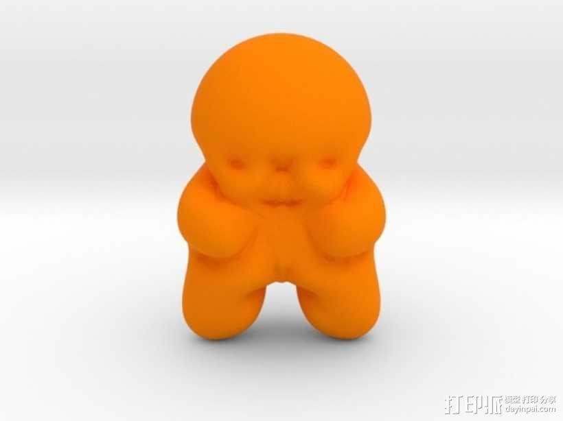 毛毛虫 3D模型  图1