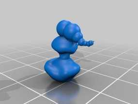 毛毛虫 3D模型