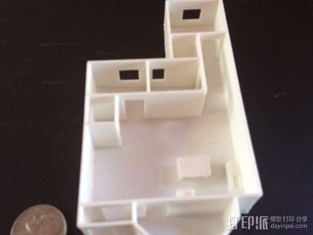 公寓 房屋结构 3D模型  图2