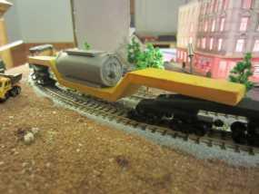 凹式平板火车 3D模型