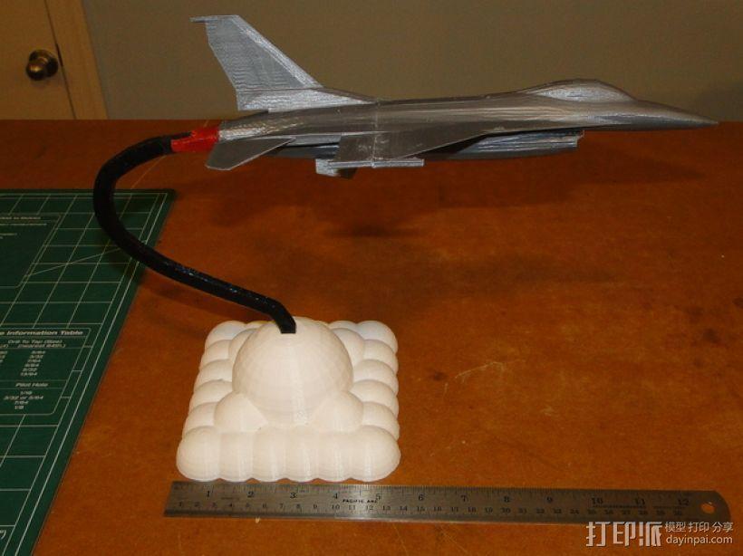 F16 飞机支架 3D模型  图1