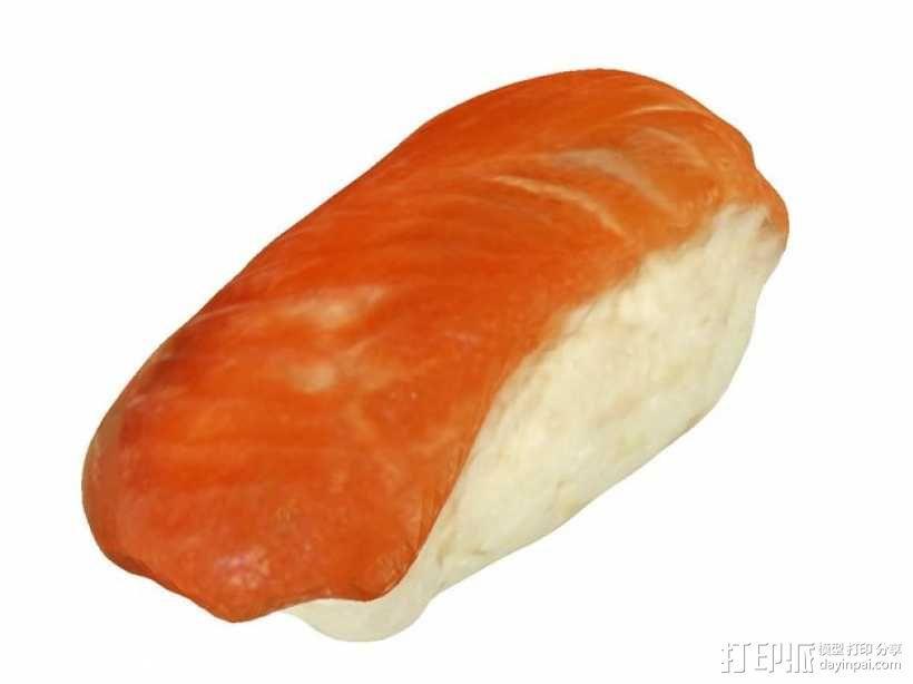 三文鱼寿司 3D模型  图1