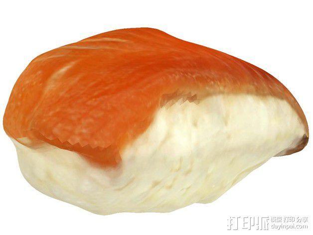 三文鱼寿司 3D模型  图4