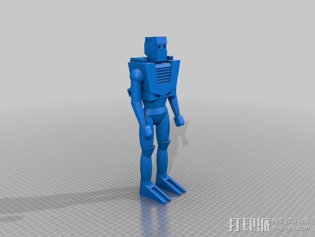 Spaceknight机器人 3D模型  图3
