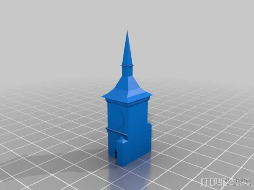 伯尔尼 时钟塔 3D模型  图2