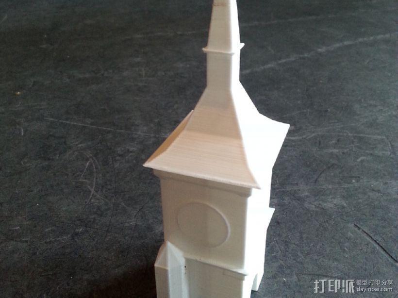 伯尔尼 时钟塔 3D模型  图1