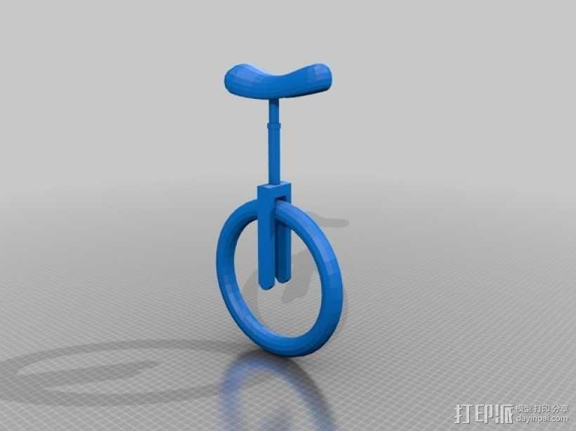 独轮车  3D模型  图1