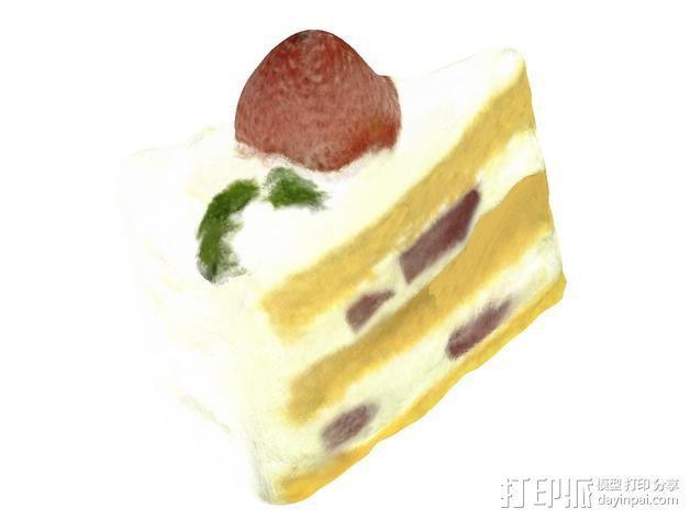 草莓蛋糕 3D模型  图2
