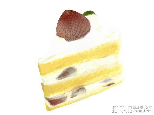 草莓蛋糕 3D模型  图1