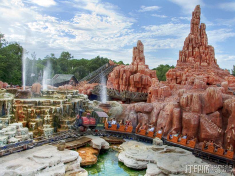 迪士尼乐园巨雷山模型 3D模型  图1