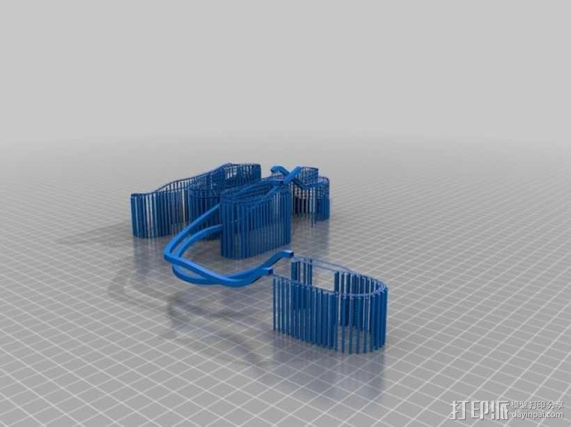 迪士尼乐园巨雷山模型 3D模型  图4