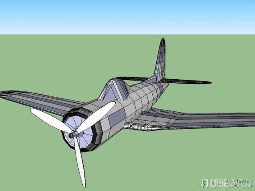 Ryan FR-1火球战斗机  3D模型  图4