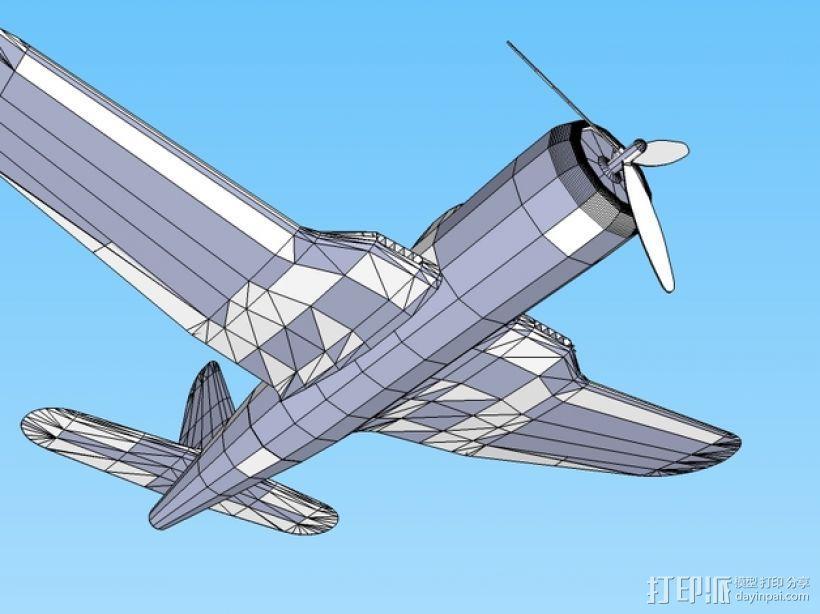 Ryan FR-1火球战斗机  3D模型  图7