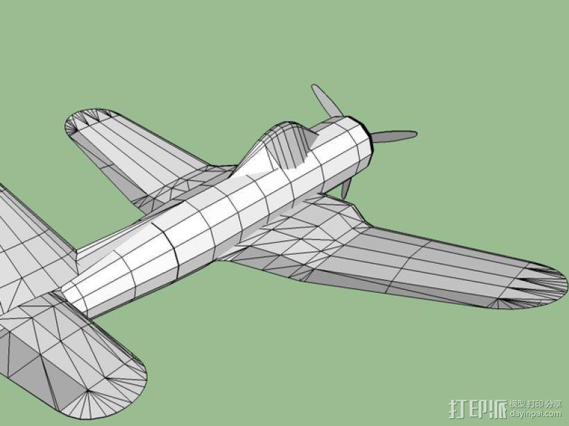 Ryan FR-1火球战斗机  3D模型  图6