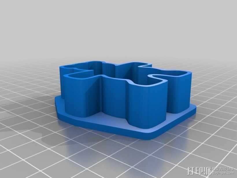 泰迪熊饼干切割刀 3D模型  图2