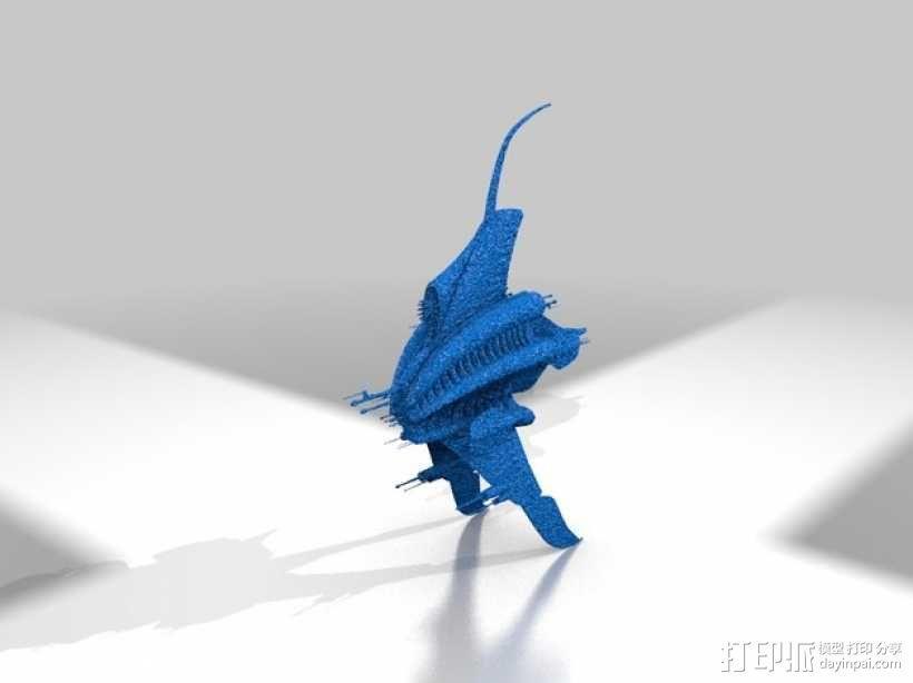 Minbari巡洋舰 3D模型  图1