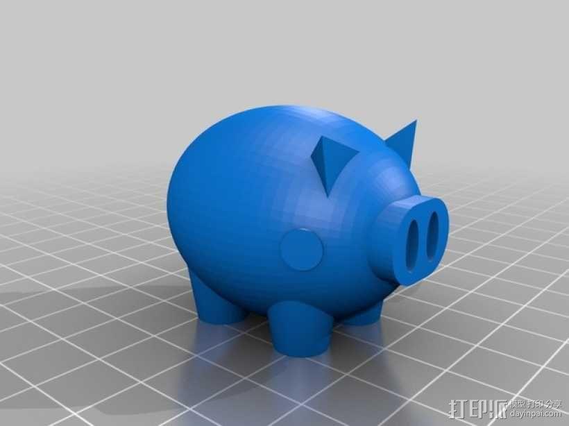Puerco小猪 3D模型  图1