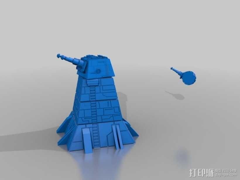 激光炮塔 3D模型  图1