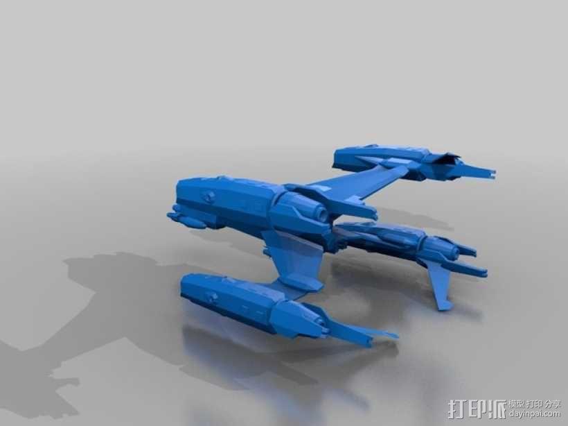 Starfury战斗机 3D模型  图1