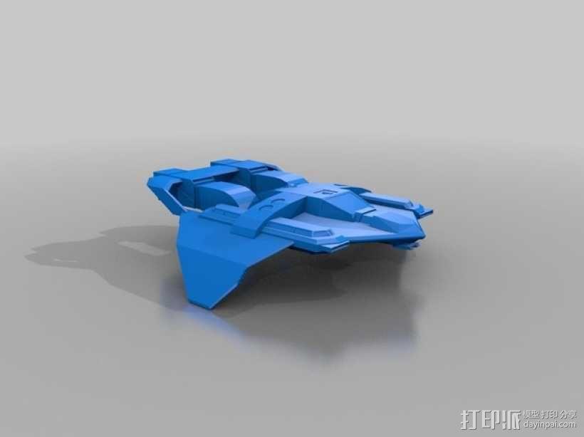 联邦战斗机  3D模型  图1