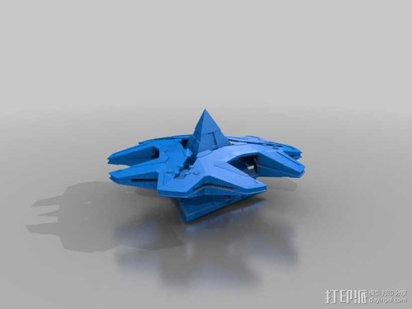 Goa'uld Hatak战艇 3D模型  图1