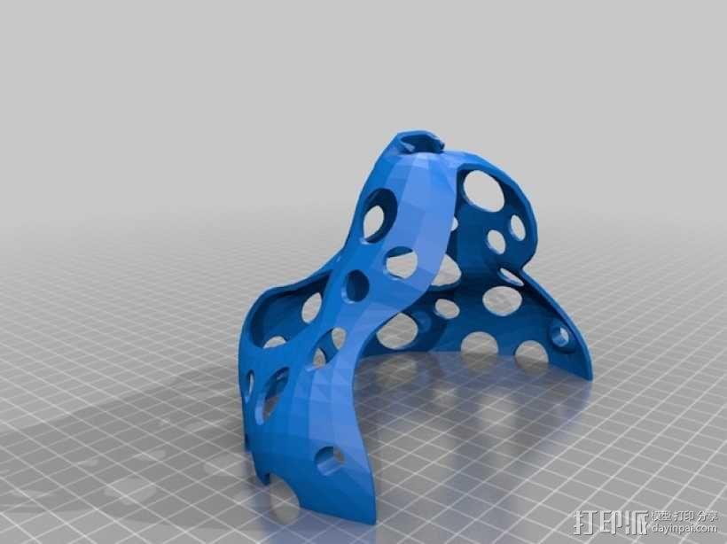 玩偶头部支撑架 3D模型  图2