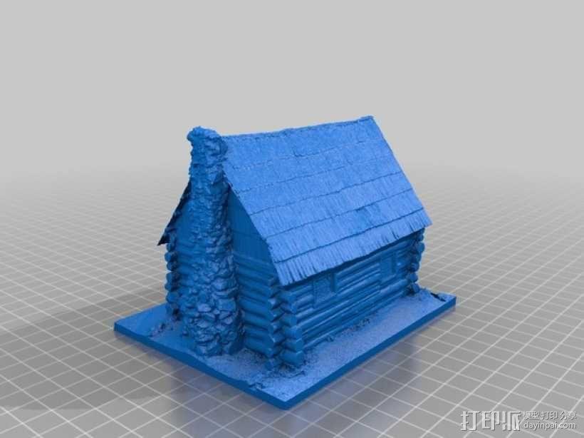 约塞米蒂小屋 3D模型  图2