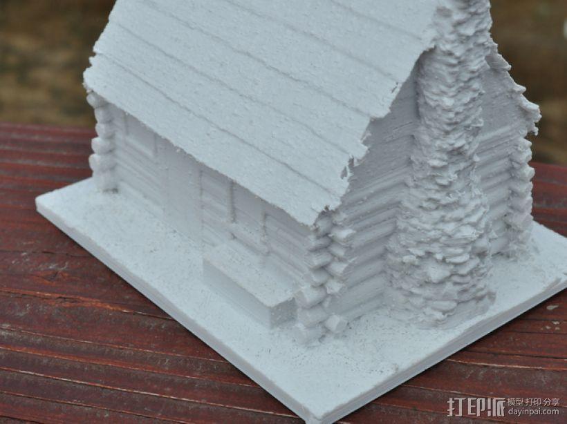 约塞米蒂小屋 3D模型  图3