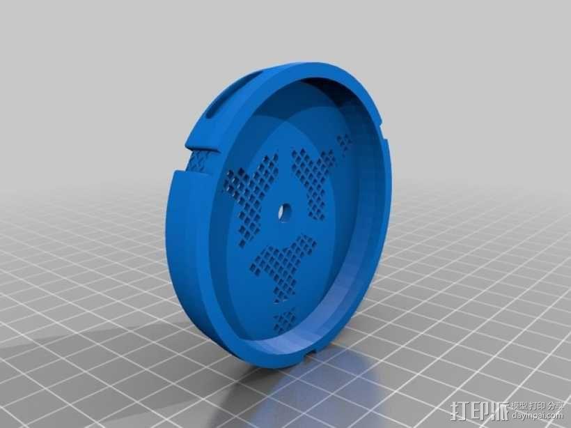 防毒面具过滤罩 3D模型  图1