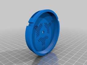 防毒面具过滤罩 3D模型