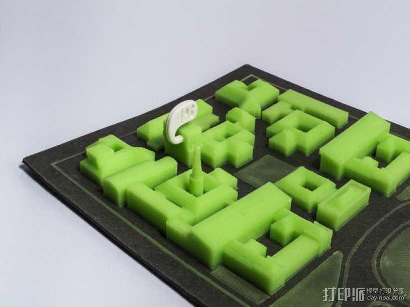 米兰理工学院地图 3D模型  图1