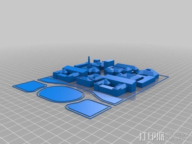 米兰理工学院地图 3D模型  图2