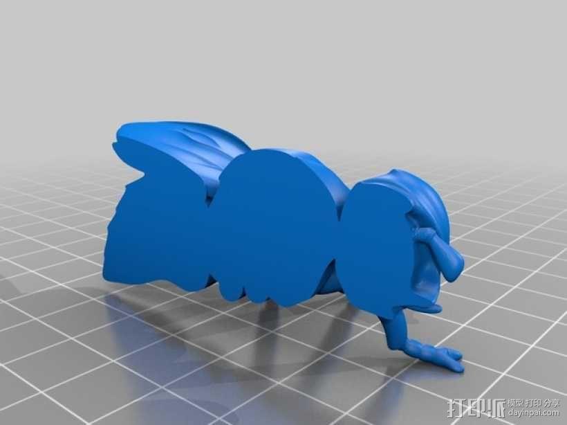 苍蝇 3D模型  图2