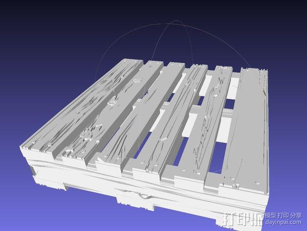 框条式托盘 货架 3D模型  图1