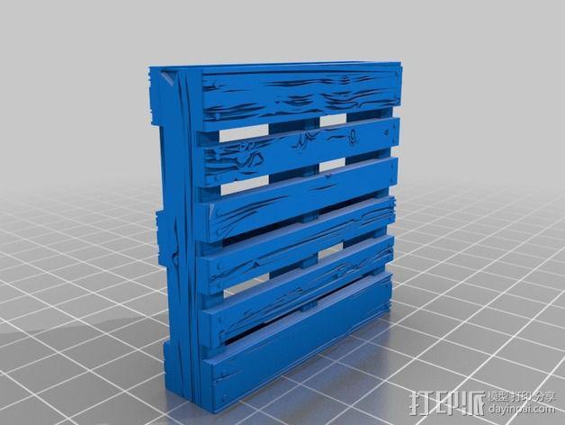 框条式托盘 货架 3D模型  图4