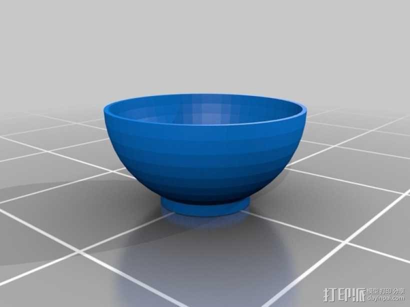 碗  麦片粥碗 3D模型  图2