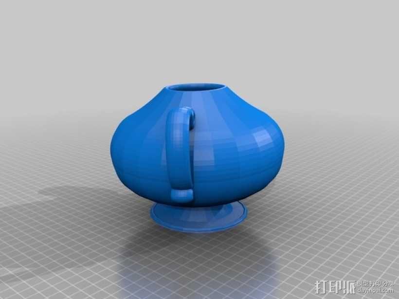 茶壶太太和杯子 3D模型  图2