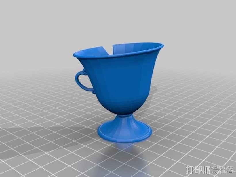 茶壶太太和杯子 3D模型  图4