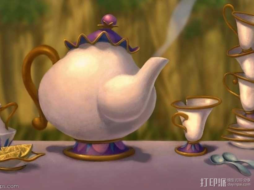 茶壶太太和杯子 3D模型  图5