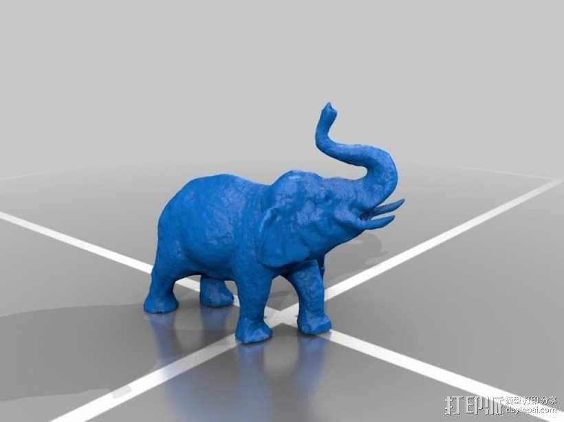 大象 公象 3D模型  图1
