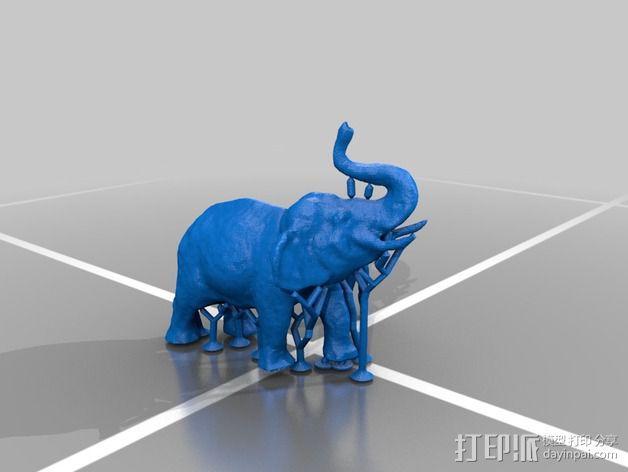 大象 公象 3D模型  图2
