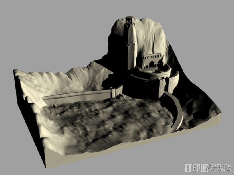 圣盔谷 指环王  3D模型  图1