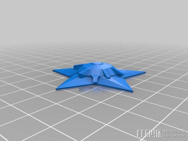 宝石海星 3D模型  图2