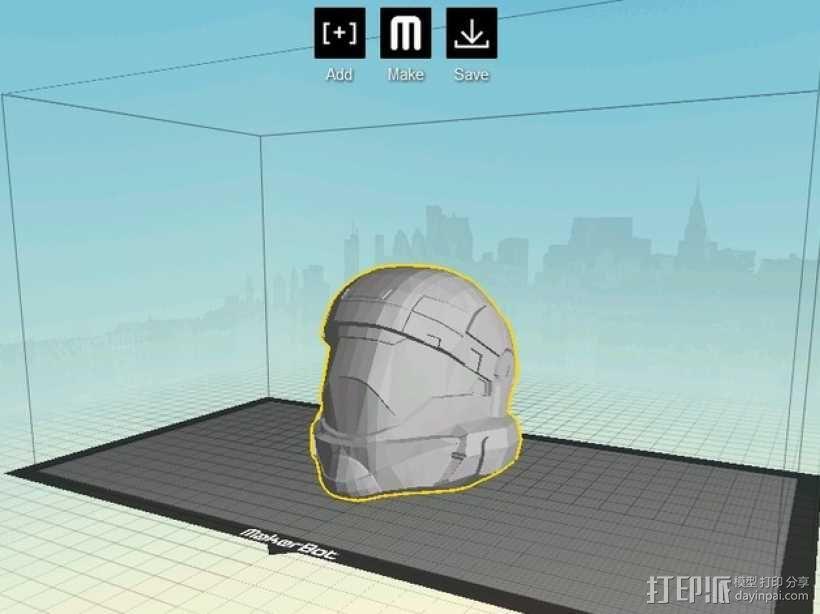 地狱伞兵头盔 3D模型  图1