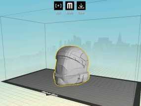 地狱伞兵头盔 3D模型