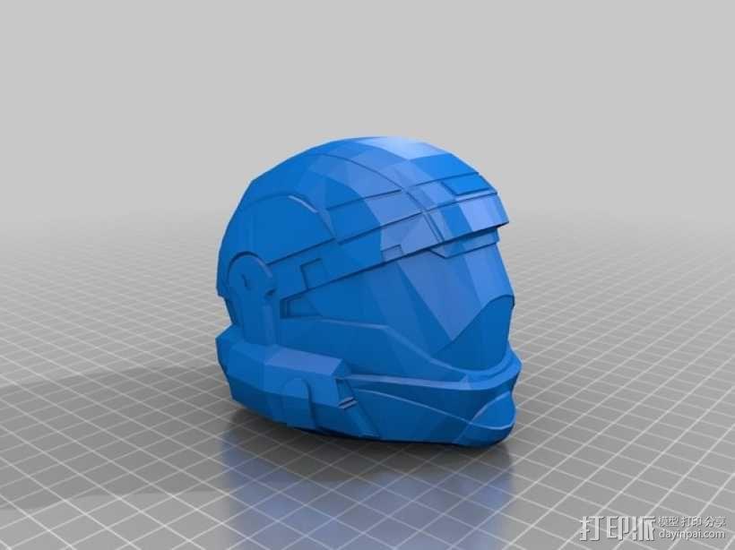 地狱伞兵头盔 3D模型  图2