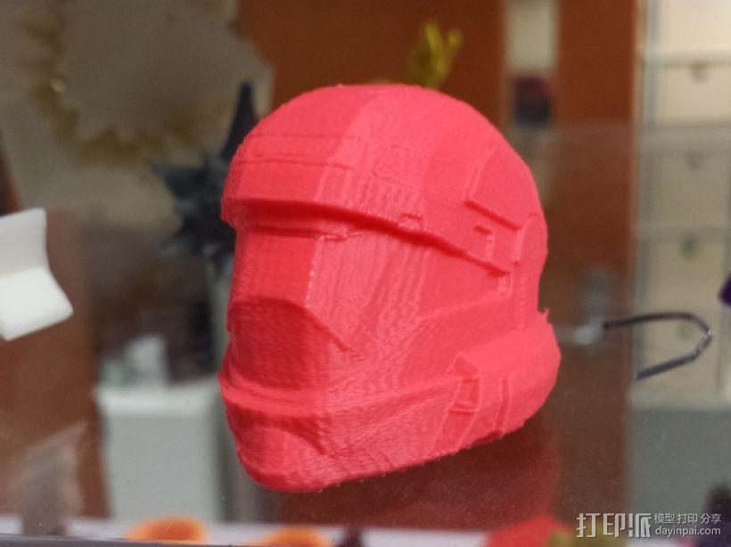 地狱伞兵头盔 3D模型  图3