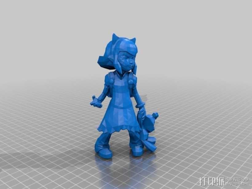 黑暗之女 安妮 3D模型  图1